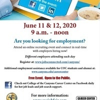 College of the Canyons' Virtual Job Fair
