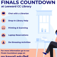 Finals Countdown at Leeward CC Library: ONLINE