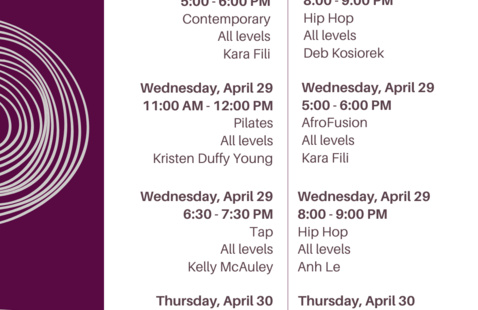 COF Dance Schedule Flyer