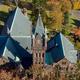 Aerial photo of Mary Lyon Hall