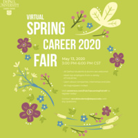 Virtual Spring Career Fair 2020 info