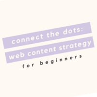 Connect the Dots: Web Content Strategy for Beginners w. Language Arts