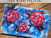 DIY Rose, White, & Blue Palette Take Home Kit