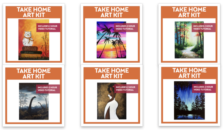 NEW Video on Demand Take Home Paint Kits!