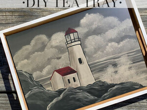 Illuminating Lighthouse Tray Take Home Paint Kits