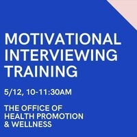 Motivational Interviewing Training for DePaul Staff and Faculty