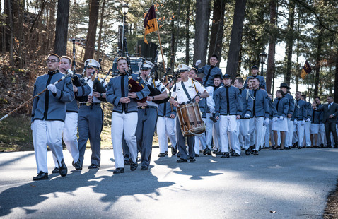 Junior Ring Retreat Ceremony and March Down
