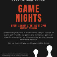 Cascades Virtual Game Night