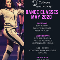 COF Dance Classes May 2020 flyer