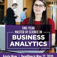 Business Analytics MS apply graphic
