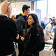Students networking with professionals