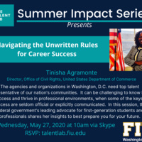FIU in DC: Navigating the Unwritten Rules for Career Success