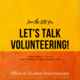 Let's Talk Volunteering!