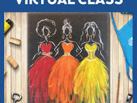 Dressed to Frill Live Virtual Class, 2 Supply Options
