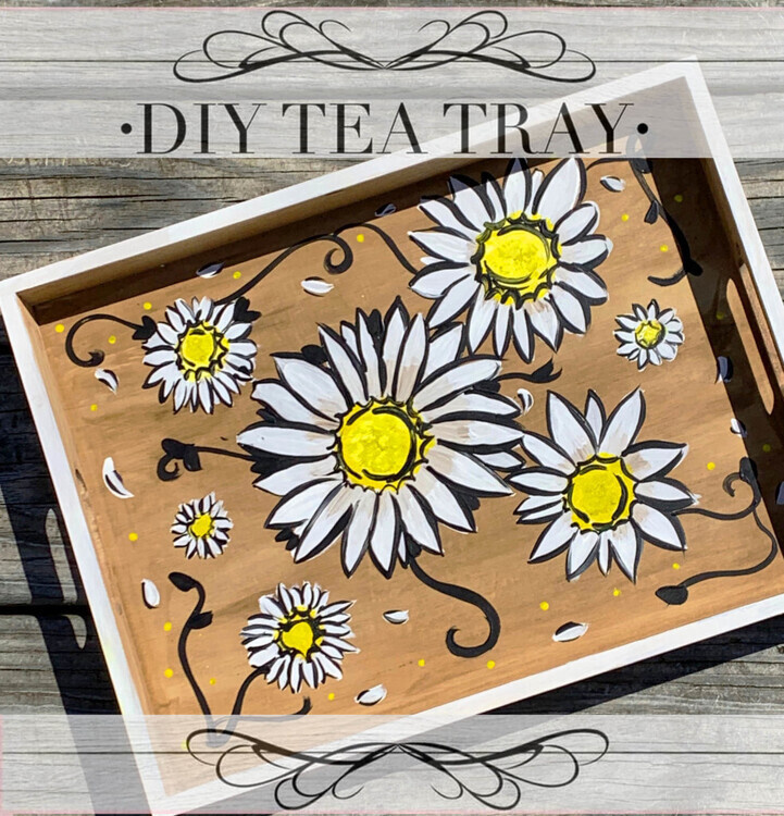 DIY Vintage Daisy Tray Take Home Kit!