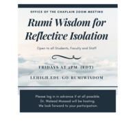 Rumi Wisdom for Reflective Isolation