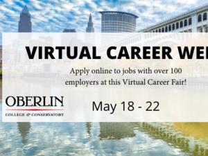 poster announcing virtual career fair