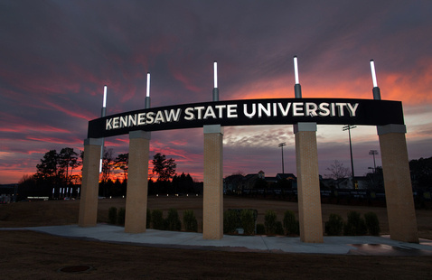 Kennesaw Campus Entrance Sign