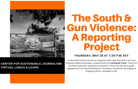 "Virtual Lunch & Learn: ""The South & Gun Violence: A Reporting Project"""