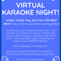 GSC Virtual Karaoke Night!