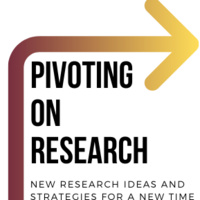 Pivoting on Research Logo with arrow going up then angling right.