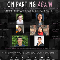 Oberlin Baccalaureate Service: On Parting Again