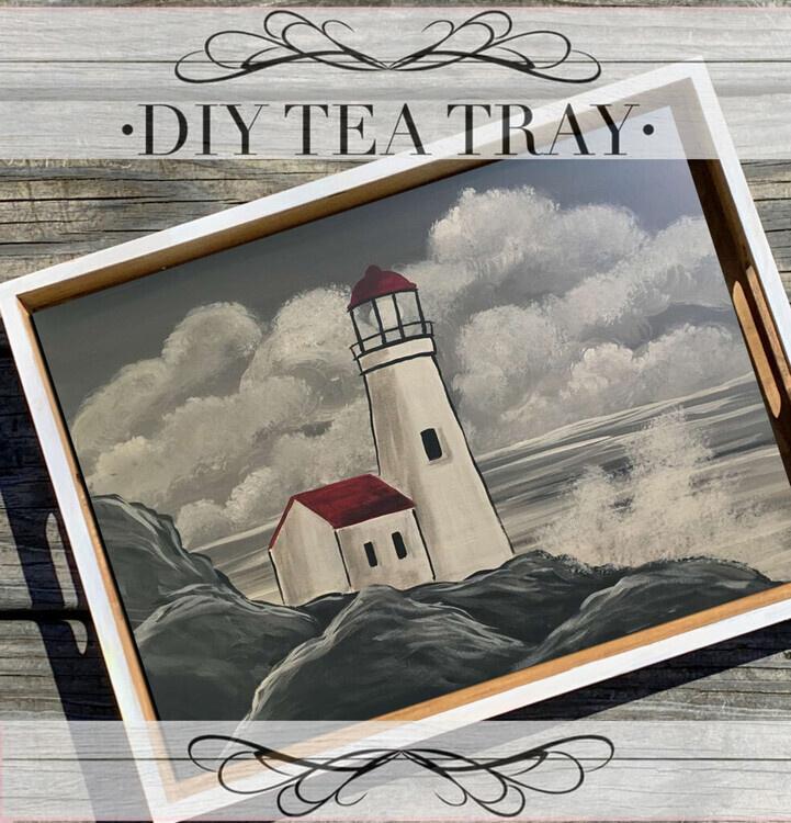 DIY Illuminating Lighthouse Tray Take Home Kit