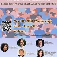 DePaul Global Asian Studies Program Asian Pacific American Heritage Month Webinar: Facing the New Wave of Anti-Asian Racism in the U.S.