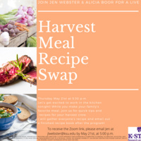 Harvest Meal Recipe Swap--Join Jen Webster and Alicia Boor LIVE!!