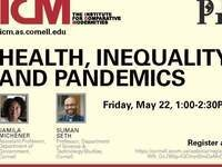 Health, Inequality and Pandemics:  flyer with registration information