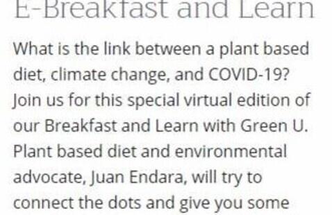 E-Breakfast and Learn with GREEN U  - Webinar