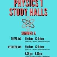 Physics 1 Study Halls