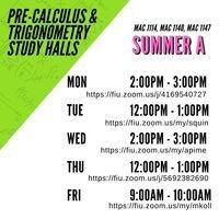 Pre-Calculus & Trigonometry Study Halls