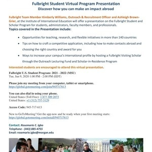 Fulbright Scholar Program Virtual Info Session