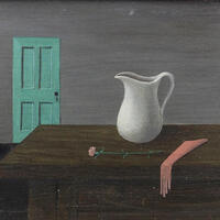 Gertrude Abercrombie, Interior with Pitcher, Rose, and Glove, n. d., Helen M. Danforth Acquisition Fund