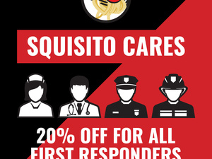 Squisito Offering 20% to First Responders