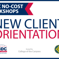 Small Business Development Center Webinar – New Client Orientation