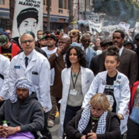 UCSF Do No Harm Coalition participates in protest