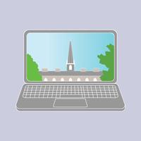 Laptop with Old Kenyon