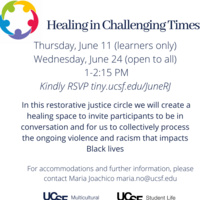 AT CAPACITY-Healing in Challenging Times: Restorative Justice Circle