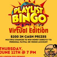 Playlist Bingo - Lehigh After Dark  Summer Nights