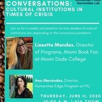 Coffee & Conversations: Cultural Institutions in Times of Crisis featuring Miami Book Fair at Miami Dade College