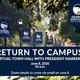 Return to Campus Virtual Town Hall with President Marrero