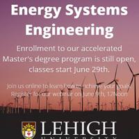 Master's in Energy System Engineering Info Webinar