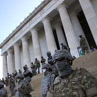 US Military standing guard