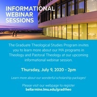 Graduate Theology Informational Webinar Session