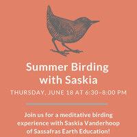 Summer Speaker Series: Summer Birding