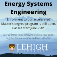 Master's in Energy Systems Engineering