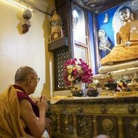 HH the Dalai Lama in Bodhgaya, India
