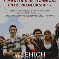 Master's in Technical Entrepreneurship Informational Webinar